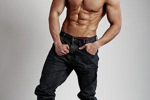 Shirtless muscular guy