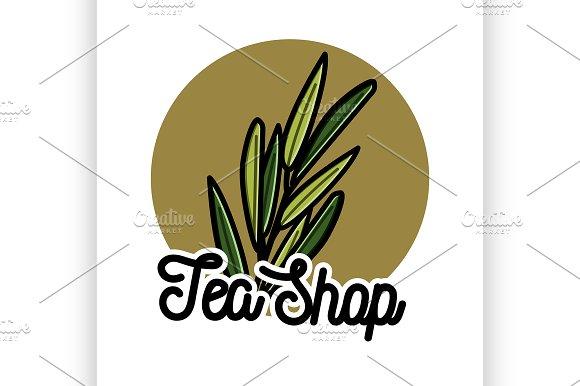 Color Vintage Tea Shop Emblem