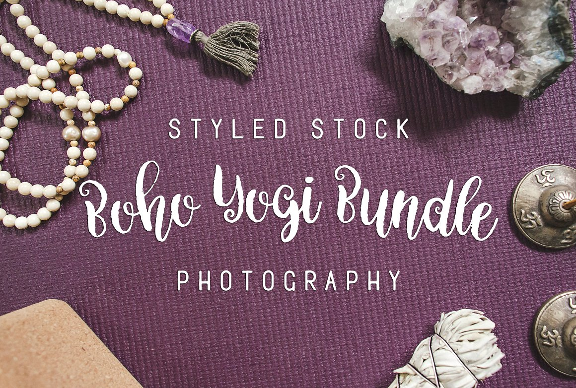 Boho Yogi Bundle Stock Photography