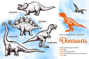 Dinosaur Sketch Set