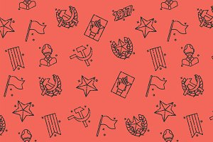 Communism concept icons pattern