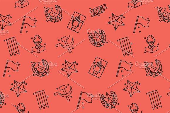 Communism concept icons pattern