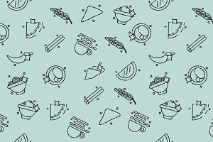 Indian food concept pattern