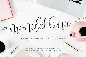 Mondellina Script + 6 logo pack