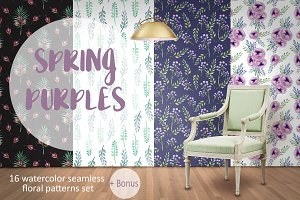 Spring Purples Patterns
