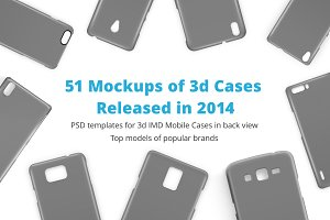 3d IMD Phone CaseMockups Bundle 2014