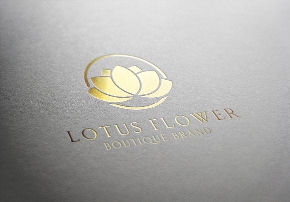 Lotus flower logo templates creative market mightylinksfo Gallery