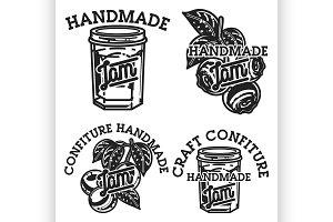 Vintage confiture emblems