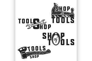 Vintage tools shop emblems