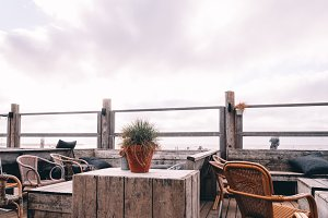 Empty Beach Bar at Summer