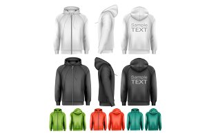 Set of black and white hoodies