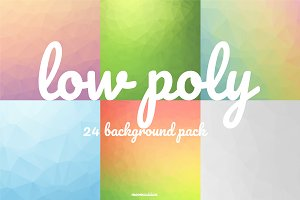 Low Poly Background : Set of 24