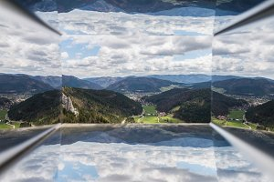 3d like view on the mountains