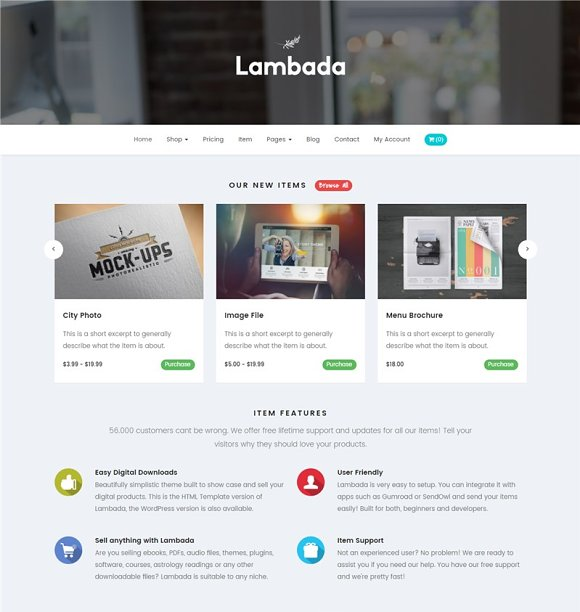 Lambada HTML Template Digital Shop