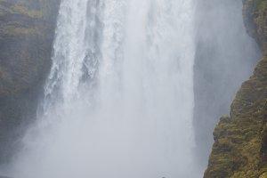 Powerful Skogafoss Waterfall