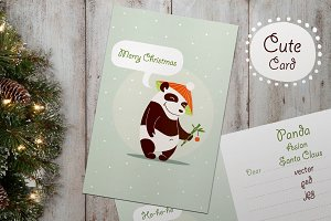 "Christmas greeting card ""Panda Santa"
