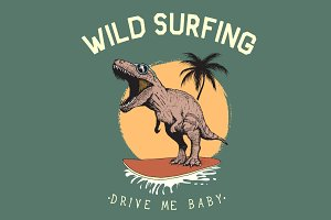 Surfer-tyrannosaur