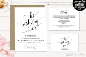 Classic Wedding Invitation Set