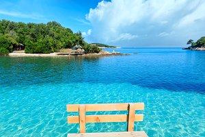 Summer Albania beach.