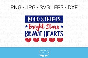 Bold Stripes Bright Stars July 4th