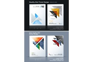 Abstract annual report, business vector template. Brochure desig