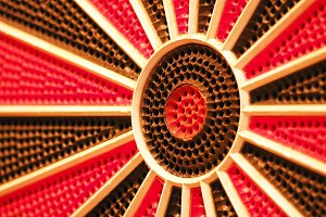 Dartboard abstract background