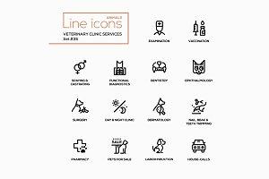 Vet Clinic Services - Pictograms Set