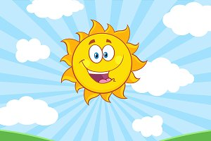 Sunshine Happy Sun Character