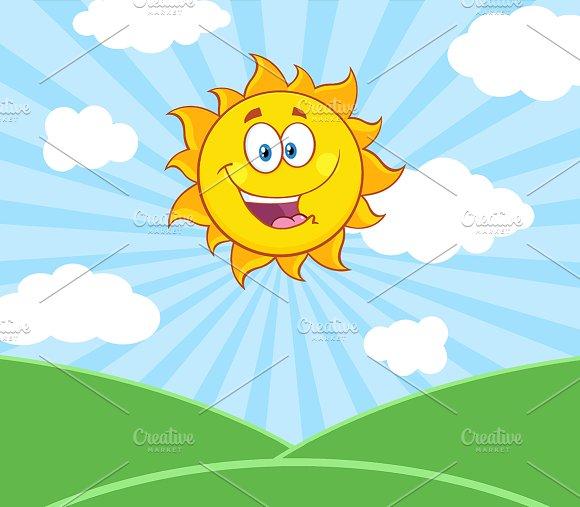 Sunshine Happy Sun Character