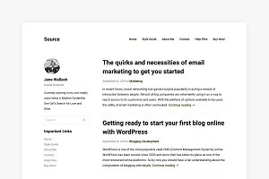 Source - Minimal WordPress Theme
