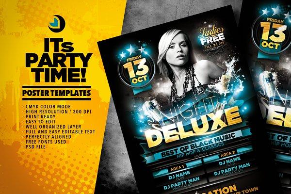 Night Deluxe Flyer Template
