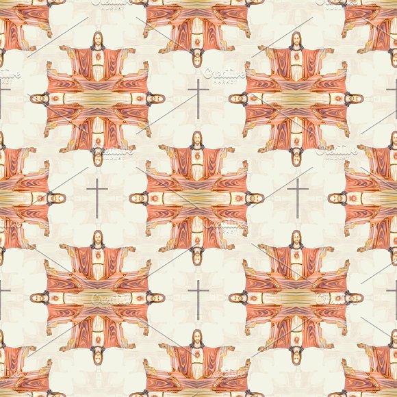 Christian Motif Seamless Pattern