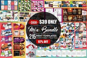 215 Mix Print Template Bundle
