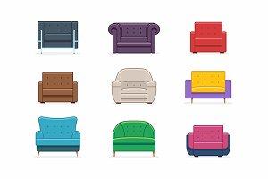 Armchairs set