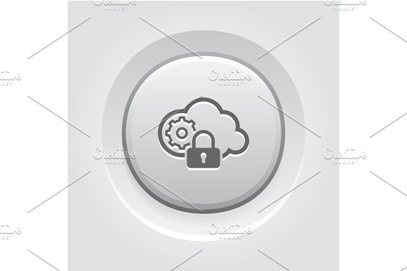 Secured Cloud Processing Icon