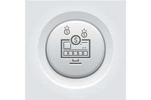 Income Store Icon. Business Concept.