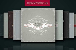 Set of ready design for invitations