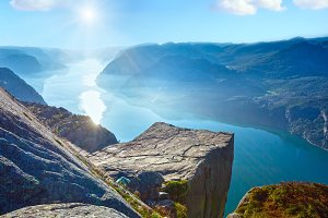 Preikestolen cliff top (Norway)