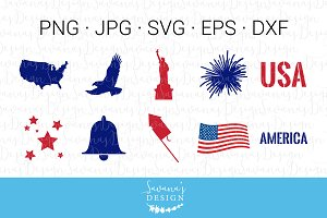 4th of July SVG File Bundle