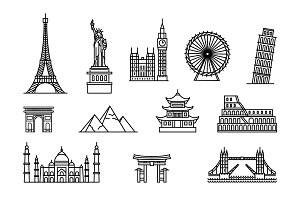 Famous buildings tourist places