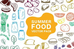 Summer Foods Vector Pack
