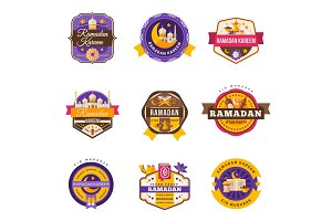Set Of Vintage Ramadan Kareem Labels