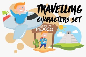 Travelling Characters Set - Mexico