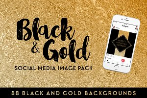 Black & Gold Social Media Image Pack