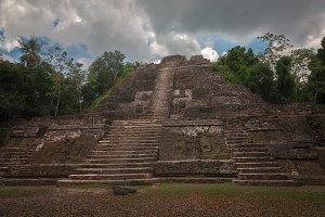 Lamanai Temple Pyramid Bellize