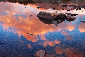 Sunset Reflection in Yosemite