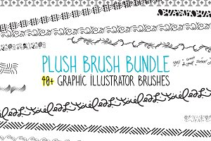 Plush Brush - 40 Graphic AI Brushes