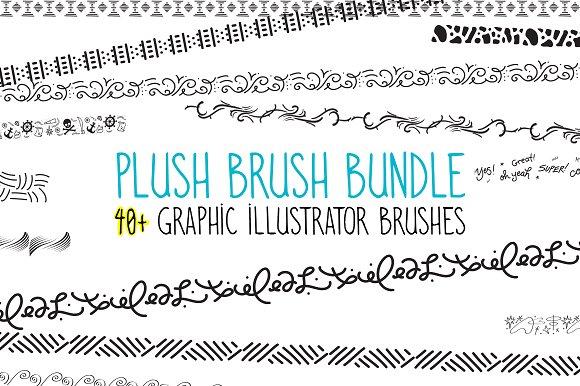 Plush Brush 40 Graphic AI Brushes