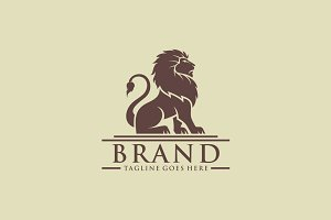 Lion Sitting logo