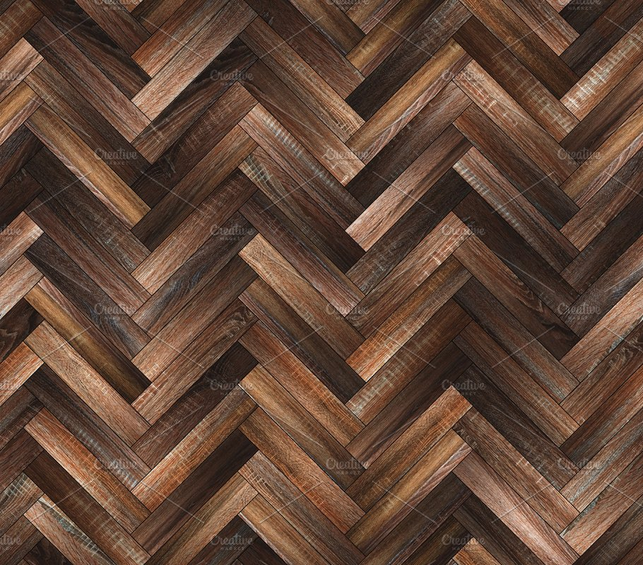 Herringbone Natural Dark Parquet Seamless Floor Texture Abstract